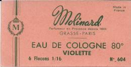 Etiquette Parfum Réf.048. Eau De Cologne Violette - Molinard - Grasse, Paris - Etiquettes
