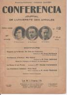 CONFERENCIA N° 12 – 1er JUIN 1933 Journal De L'université Des Annales - Kranten