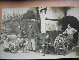 Alambic Ambulant Bouilleur De Cru Avec Militaire 120 Ième Régiment - Paesani