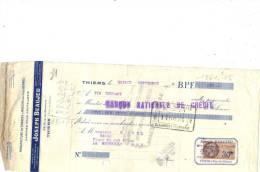 Lettre Change 1928 Joseph BEAUJEU Chasses à Rasoirs Manches Couteaux THIERS Pour La Bourboule 63  - Timbre  Fiscal - Lettres De Change