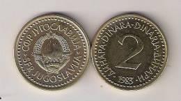 Yugoslavia 2 Dinara 1983. UNC/AUNC   KM87  M#56.2 - Joegoslavië