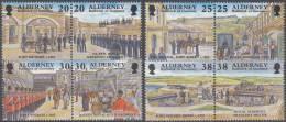 Alderney - Historische Entwicklung Von Alderney - 19 Oktober 1992 - Michel 137 -144 - Xx/postfris/MNH - Alderney