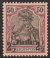 ALEMANIA 1900/03 (LEVANTE) - Yvert #17 - Mint No Gum (*) - Officina: Turquia
