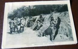 GUERRA ITALO-TURCA LIBIA  FOTO EX LIBRO 1911 -12-TRIPOLI BERSAGLIERI IN TRINCEA - War, Military