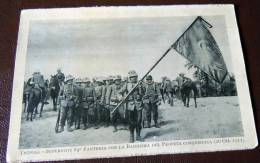 GUERRA ITALO-TURCA LIBIA  FOTO EX LIBRO 1911 -12-TRIPOLI SUPERTITI 84 CON BANDIERA ARABA - Guerre, Militaire