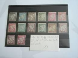 Timbres Taxe Neufs. N°10,28,29,31,32,33,35,36 ,37,38,40,40A,42,42A - 1859-1955 Nuevos