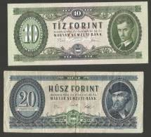 HUNGARY - LOT Of 4 Banknotes 10, 20, 50, 100 FORINT / Lotto Di 4 Banconote 10, 20, 50, 100 FORINT - Ungheria