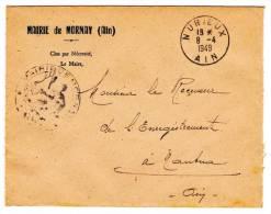 Enveloppe Mairie De Mornay (01) - Circulé En 1949 En Franchise - Tampon Mairie De Mornay - Vieux Papiers
