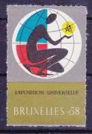 Vignet Bruxelles 1958 Mnh** - 1958 – Brussel (België)