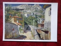Painting By S.A. Vinogradov - Ai-Petri Mountain In Ukraine , 1917 - Russian Art - Unused - Paintings