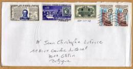 Enveloppe Destination Ghlin Belgique Le 1er Timbre De 0,80 N´est Pas Affranchi - France