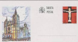 SPAGNA  -  Terjeta Postal  -   CATTEDRALE  DI  LEON - Stamped Stationery