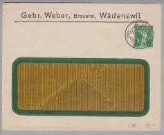 Motiv Bier CH-Privatganzsache 1915-04-14 Zug Gebr.Weber Wädenswil 5Rp.Tellknabe - Bières