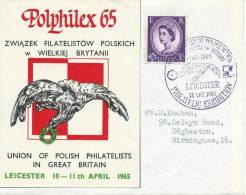 1965. POLPHILEX 65. POLISH PHILATELIC EXHIBITION IN LEICESTER. - Airmail