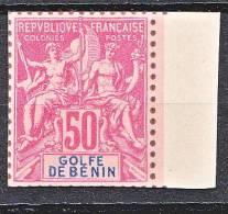 TYPE GROUPE DU BENIN N� 30 TIRAGE SUR BRISTOL DENTELURE FIGUREE