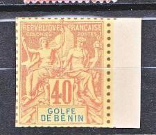 TYPE GROUPE DU BENIN N� 29 TIRAGE SUR BRISTOL DENTELURE FIGUREE