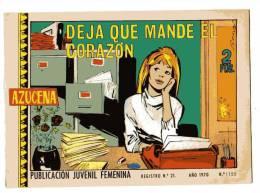 LIVRE - B.D. AZUCENA - DEJA QUE MANDE EL CORAZON - Publication Juvenil Femenina - ANO 1970 - N°1155 - Non Classés
