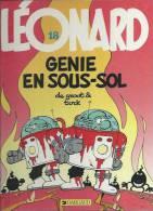 "LEONARD  "" GENIE EN SOUS-SOL ""  -  TURK / DE GROOT - E.O.  JANVIER 1990  DARGAUD - Léonard"