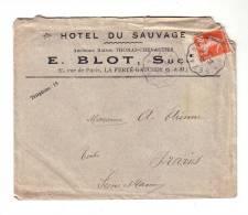 Hôtel Du Sauvage La Ferté Gaucher 1914 Ambulant Cachet Convoyeur Sezanne à Paris Marne Thomas Chevallier - Frankrijk