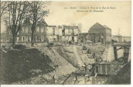 80,SOMME, HAM,Ecluse Et Pont De La Rue De Noyon Détruits Par Les Allemands , Scan Recto-Verso - Ham