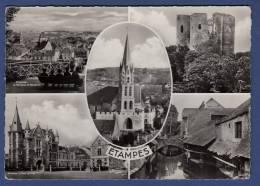 91 ETAMPES Terrasse De Guinette, Tour De Guinette, Hôtel De Ville, Lavoirs Du Pont-Doré, Eglise Notre-Dame 5 Vues - Etampes