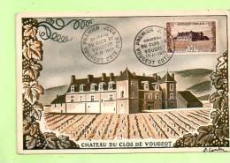 Carte  Maxi  Yvert  913  CHÂTEAU DU CLOS VOUGEOT - 1950-59