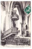 JOSSELIN _ Intérieur De L'Eglise Notre Dame De Roncier _ Chaire En Fer Forgé De Ronsin - Josselin