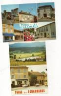 69 Lot 2 Cpsm Poule Les Echarmeaux Circulé TBE - Frankreich