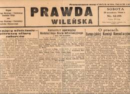 Poland-Lithuania 1944 Comunist Newspaper Prawda  Vilno Vilnjus Journal Zeitung - 1939-45