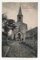 CPA  81 : LE PONT DE LARN     église Animée PUB Dr Cuguillère  A  VOIR  !!!!!!! - France
