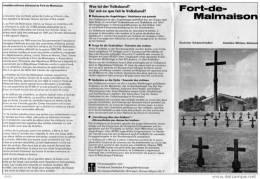 DEPLIANT  4 VOLETS  -  FORT - DE - MALMAISON  - Deutscher Soldatenfriedhof  - Cimetière Militaire Allemand - Livres, Revues & Catalogues