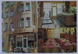 Cpm BREDENE : Pension Roger ; Café Restaurant Gentstraat - Bredene