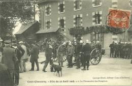 41  COUR CHEVERNY - FETE DU 23 AOUT 1908 - LA MANOEUVRE DES POMPIERS (ref 348) - Other Municipalities
