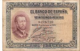 BILLETE DE ESPAÑA DE 25 PTAS  DEL AÑO 1926 SIN SERIE    CALIDAD RC  (BANKNOTE) - [ 1] …-1931 : Eerste Biljeten (Banco De España)
