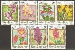 Laos 1986 Mi# 890-896 Used - Flowers - Laos