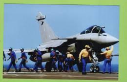 Aéronautique Navale, Rafale Prêt Au Catapultage Sur Charles De Gaulle. - Aviation