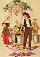 Petits Métiers - Le Porteur D'eau  -  Illustrateur ? E. Naudy  -  N° 57 - Métiers