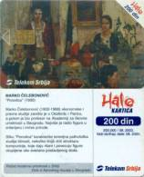 "Telefonkarte Serbien  - Gemälde,painting - M. Celebonovic - "" Porodica "" - Jugoslawien"