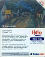 "Telefonkarte Serbien  - Gemälde,painting - M. Konjovic - "" Predgrade "" - Jugoslawien"