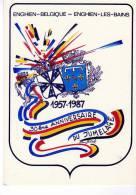 CPM    ENGHIEN BELGIQUE - ENGHIEN LES BAINS   30EME ANNIVERSAIRE JUMELAGE 1957 1987 - Enghien - Edingen