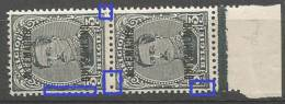 OC 40  Paire **  LV 62  Piquage + LCV 5  Couleur Marges - Errors And Oddities