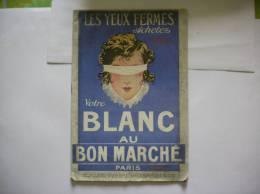AU BON MARCHE CATALOGUE BLANC 1920   32 Pages - Publicités