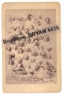 """1880 - Photograpie  Cabinet Card """" Bébés Multiples"""" ParJoshua SMITH - Chicago -U.S.A. - (10,8 X 16,5 Cm)  Voir 2 Scans - Unclassified"""