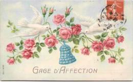 Gage D'affection - Carte Gaufrée - Fantaisies