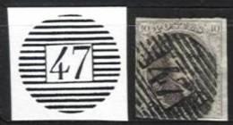Belgique - Médaillons  - Obl. P47 GEMBLOUX (timbres Second Choix, D´attente Ou D´étude) - Poststempels/ Marcofilie