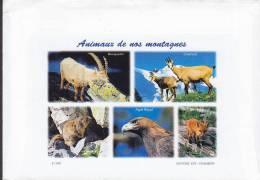 France ST. SORLIN D'ARVES 1999 Cover Lettre ANIMAUX De Nos MONTAGNE Cachet Aigle Eagle Adler Fox Fuchs (2 Scans) - France