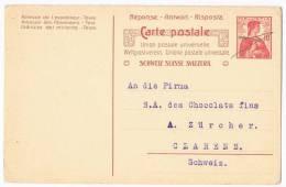 Carte Postale  Schweiz Suisse Svizzera - Entiers Postaux