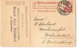 Carte Postale  Schweiz Suisse Svizzera  Basel - Entiers Postaux