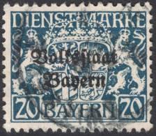 Bavaria, 20 Pf. 1919, Sc # O25, Mi # 35, Used - Bavière
