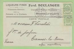 MARCINELLE - VILLETTE : Liqueurs Fines Ferd. BOULANGER. Fournitures Pour Patisserie Confiserie. 2 Scans - Belgique